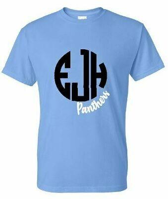EJH Panthers Gildan Columbia Blue Dry Blend T-Shirt