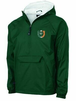 Charles River 1/2 Zip Lined Rain Pullover with choice of left chest Logo (FDBS)