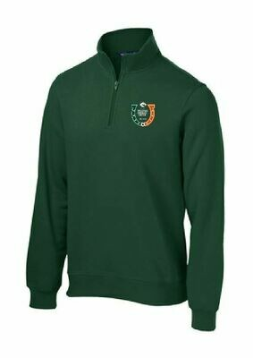 UNISEX 1/4 Zip Fleece Pullover with choice of logo (FDBS)