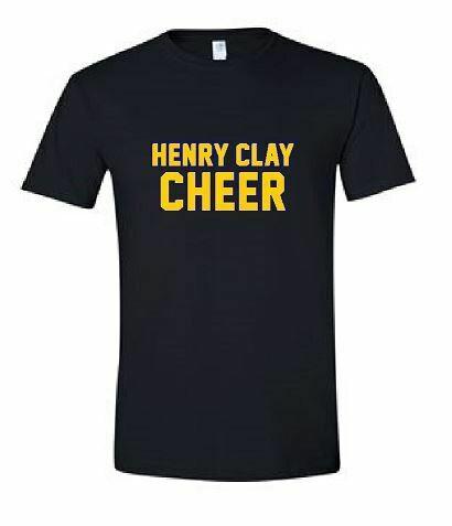 Henry Clay Cheer Gildan Softstyle Black T-Shirt