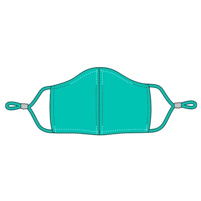 PRE-ORDER Mint Adjustable Kids' Face Mask