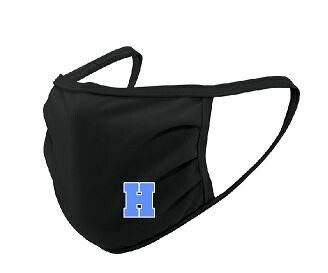 Hayes Black Face Mask with Blue H