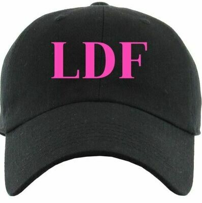 LDF Black Embroidered Hat