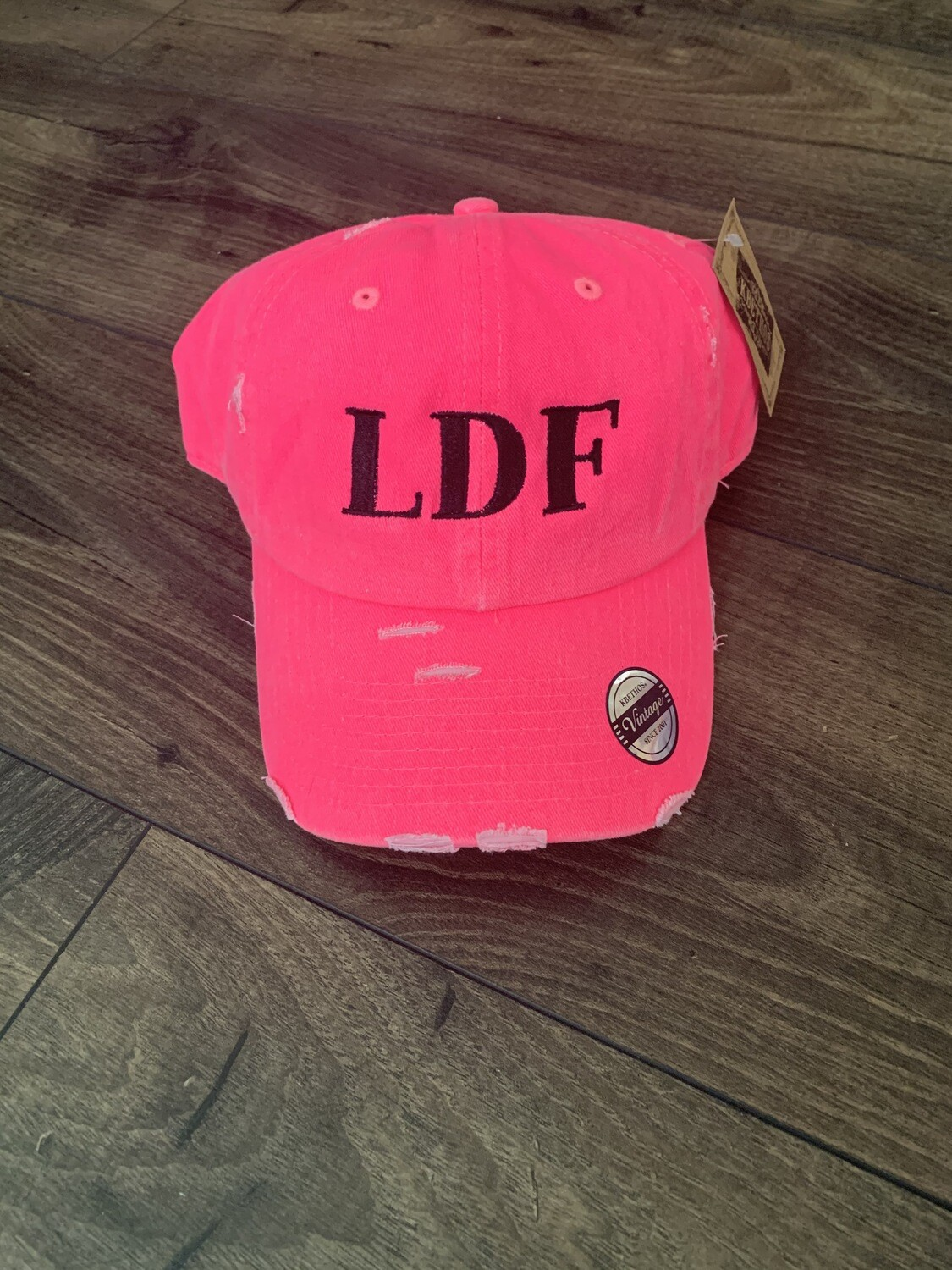 LDF Neon Pink Embroidered Hat