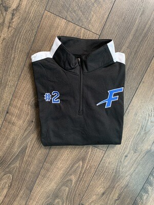 Youth Force Black/White Quarter-Zip Pullover