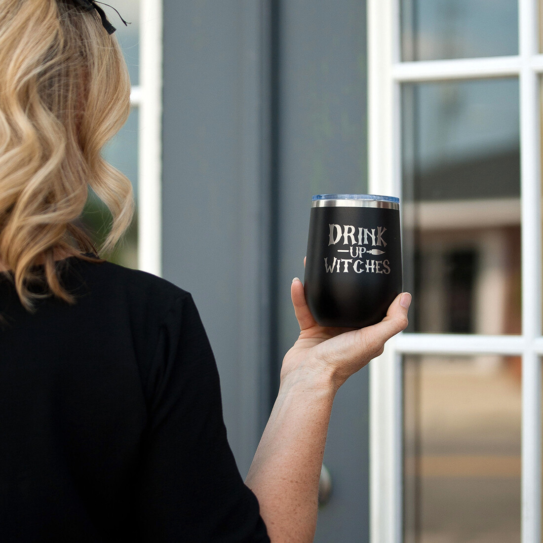 Black Drink Up Witches Tumbler