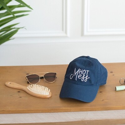 Navy Hot Mess Hat