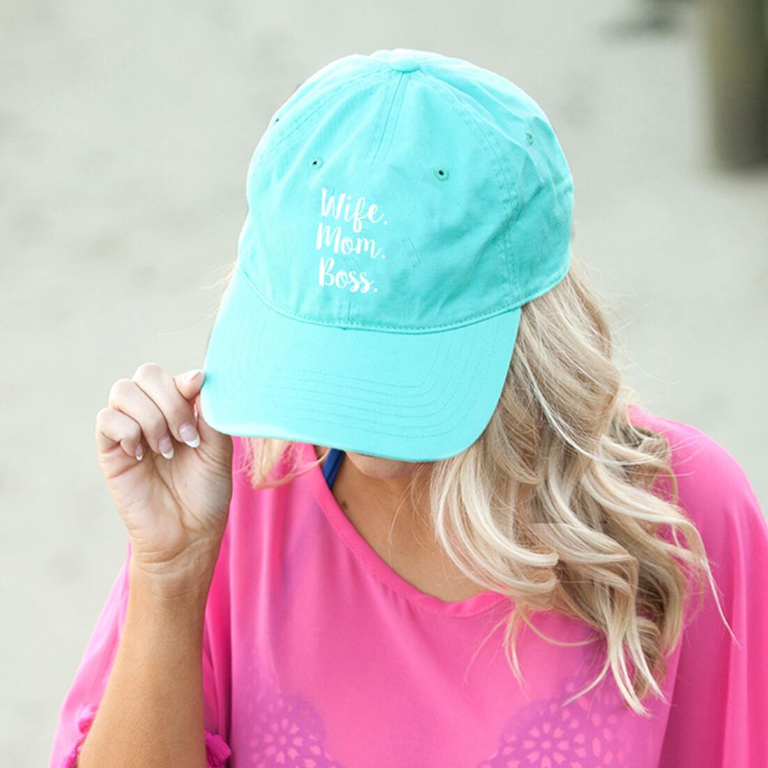 Wife.Mom.Boss Mint Hat