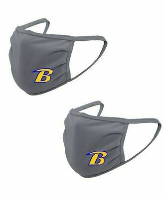 2-Pack Breckinridge Gray Face Mask  (Youth or Adult Option)
