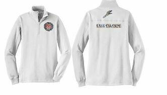 Ladies LHS Dance Sport-Tek White 1/4 Zip Sweatshirt