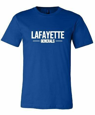 Lafayette Generals Royal Bella + Canvas Short Sleeve Tee