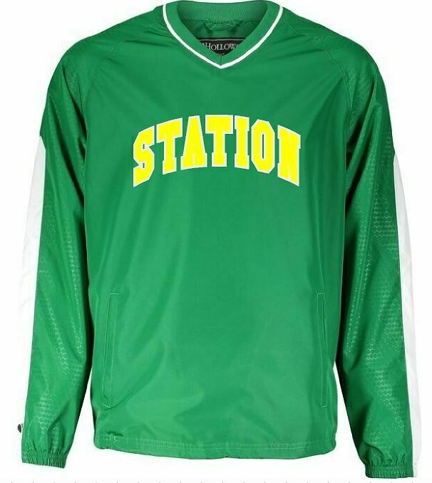 Station Bionic Wind Shirt with option to add sport or club under logo. (BSB)