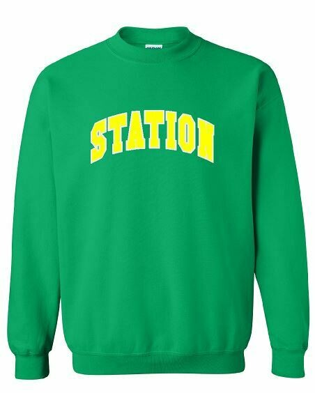 Station Crewneck with option to add sport or club under logo. (BSB)