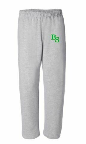 Open Bottom Sweatpants with BS logo with option to add sport or club under logo. (BSB)