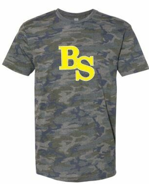 Camo Jersey Short Sleeve Tee with BS logo (BSB)
