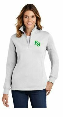 Ladies Sport-Tek 1/4 Zip Fleece Pullover with BS logo and option to add sport or club under logo. (BSB)