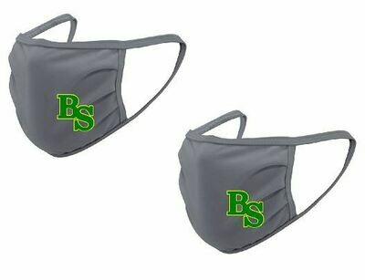 2-Pack Bryan Station Gray Face Mask  (Youth or Adult Option)