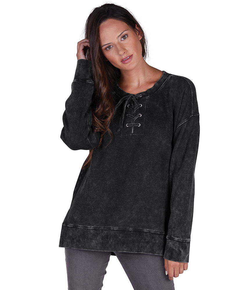 Ladies Derby Lace-Up Black Tunic