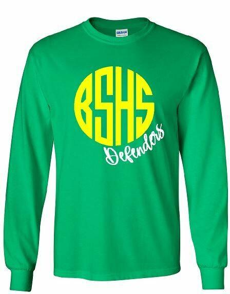 BSHS Defenders Monogram Long Sleeve (BSB)