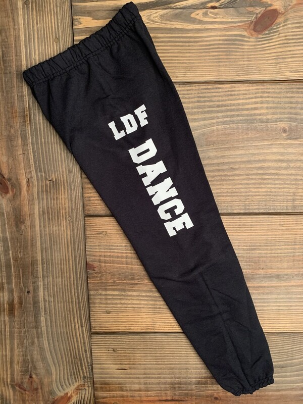 Youth LDF Dance NuBlend Black and White Sweatpants