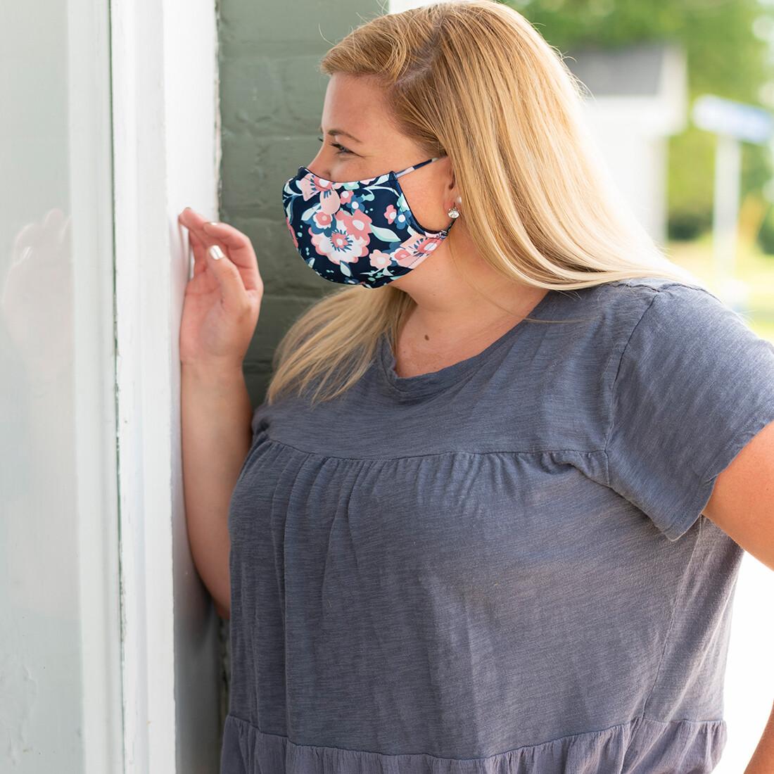 Floral Adjustable Adult Face Mask