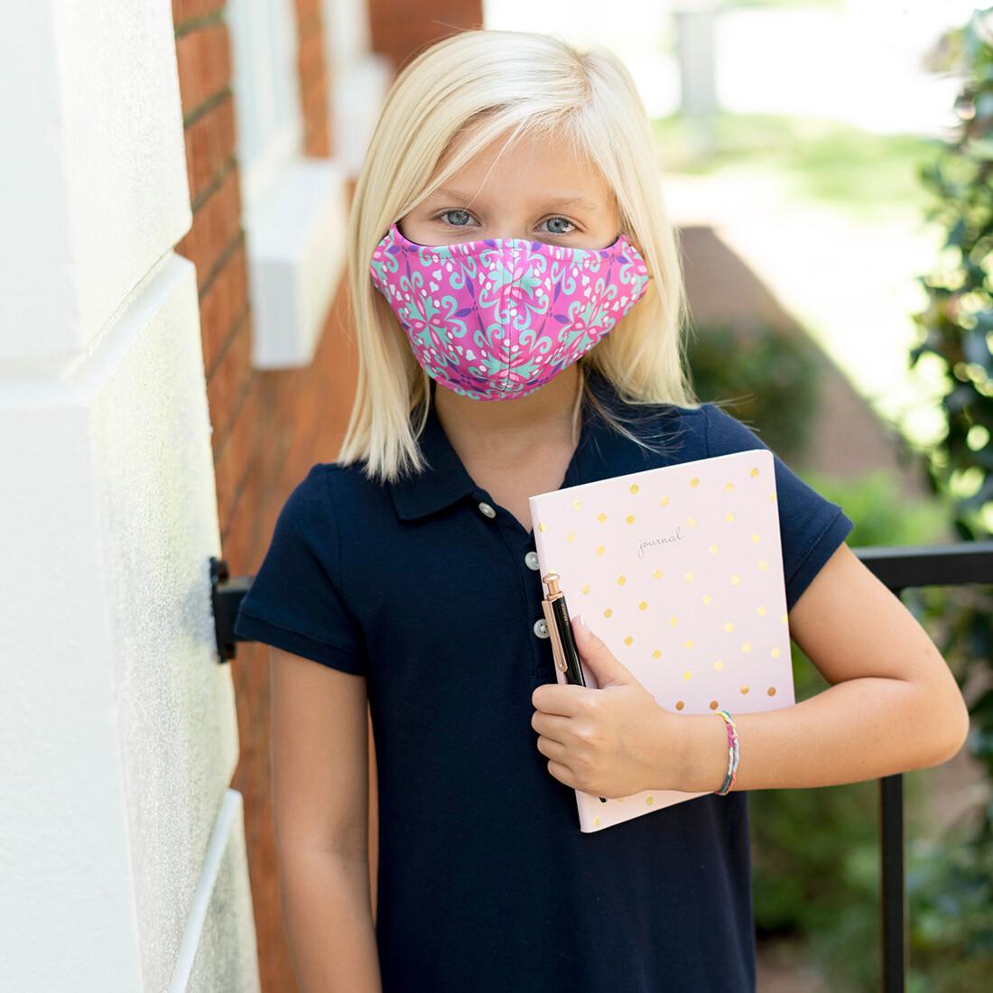 Lila Adjustable Kids' Face Mask