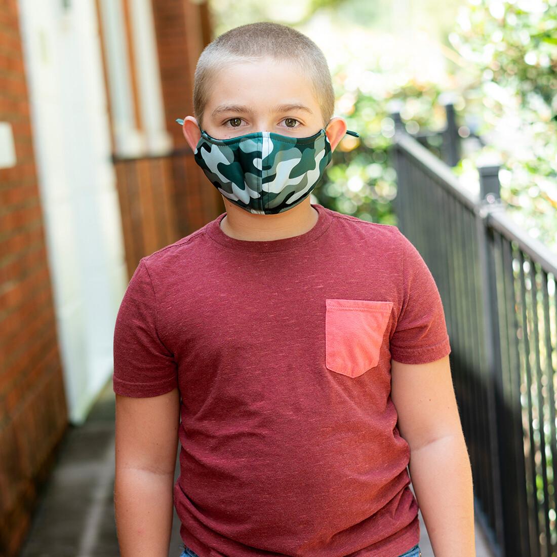 Camo Adjustable Kids' Face Mask