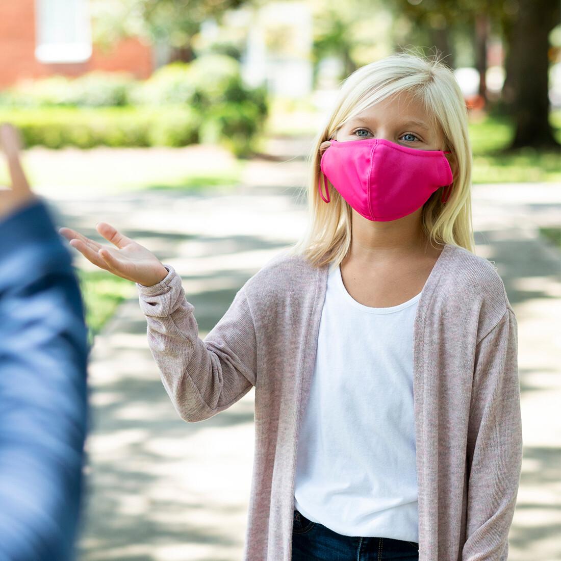 Hot Pink Adjustable Kids' Face Mask