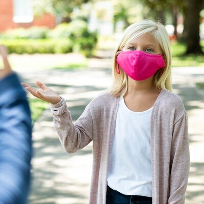 Hot Pink Adjustable Kids' Face Mask