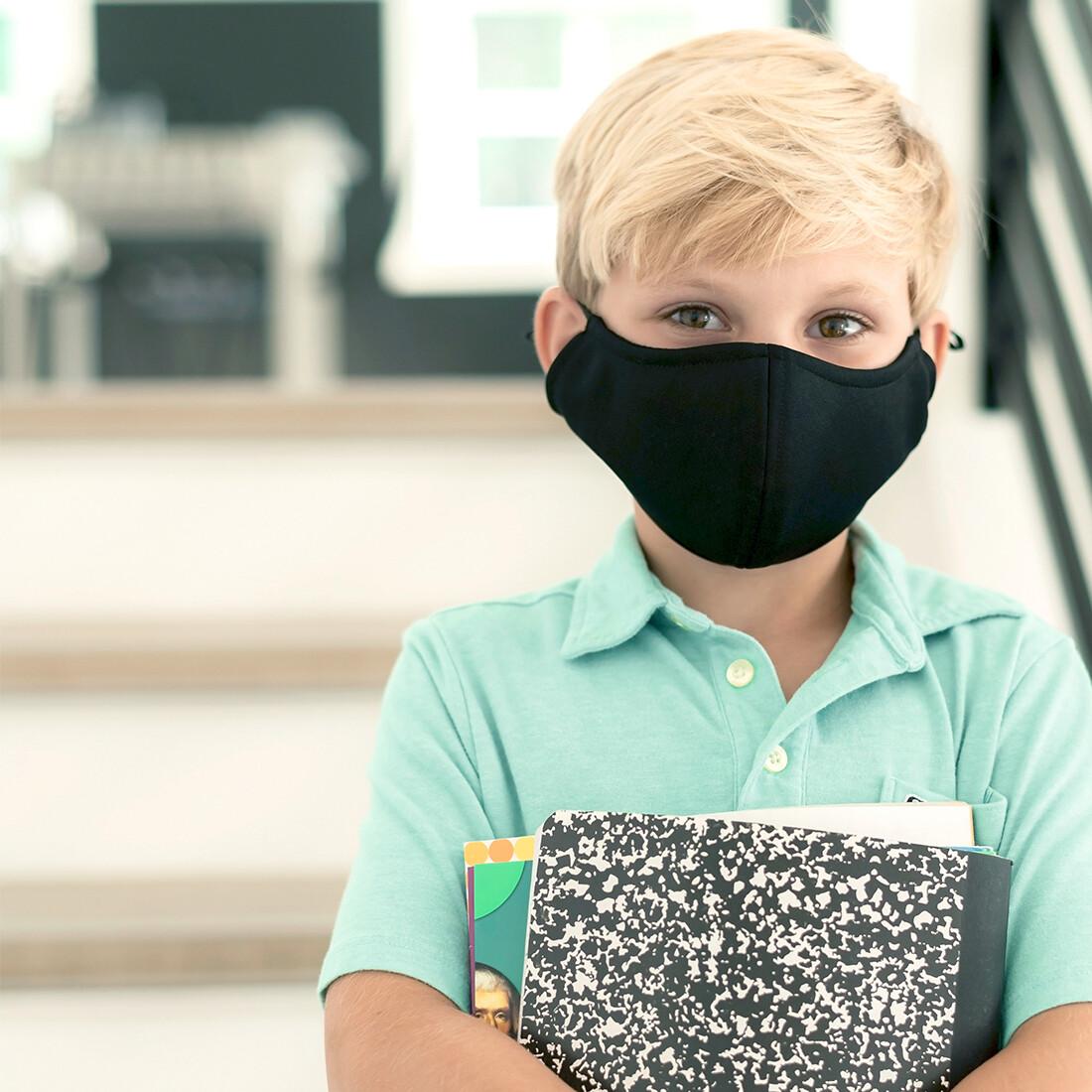 Black Adjustable Kids' Face Mask