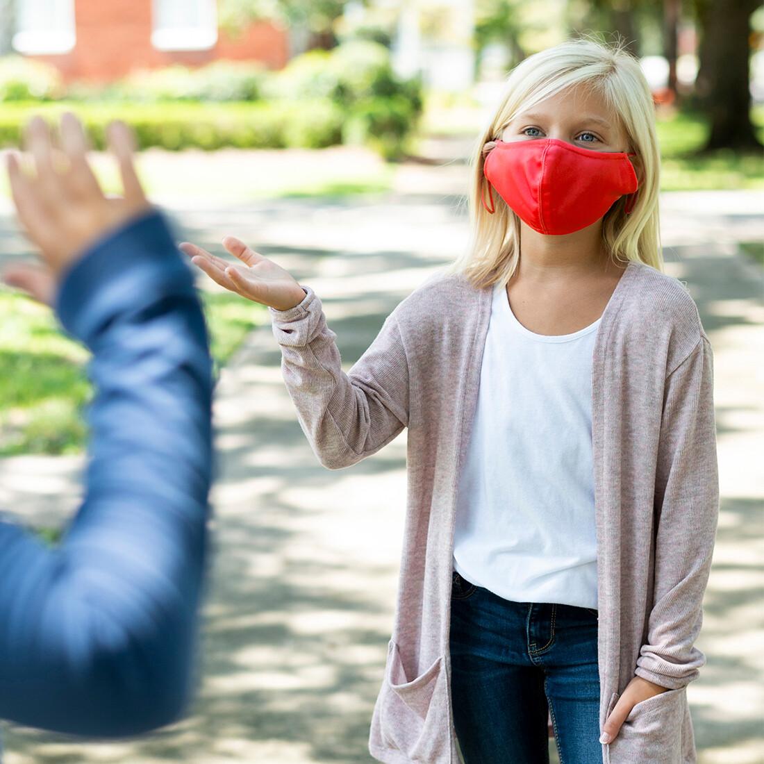 Red Adjustable Kids' Face Mask