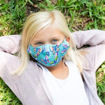 Butterfly Adjustable Kids' Face Mask