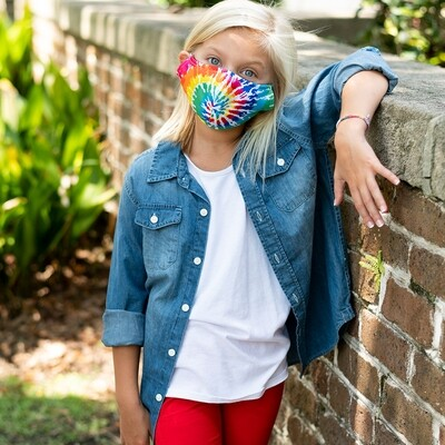 Tie Dye Adjustable Kids' Face Mask