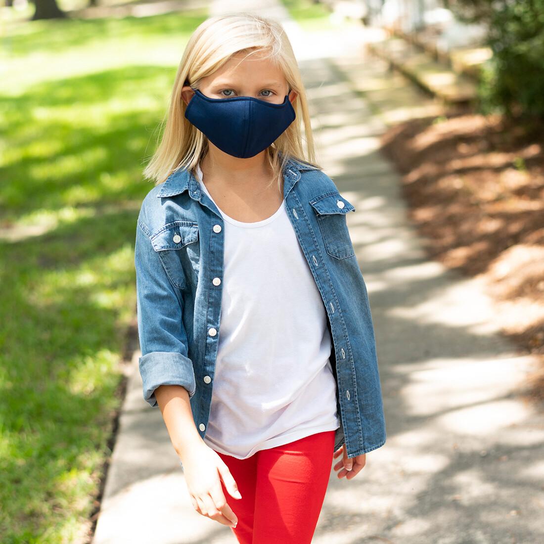 Navy Adjustable Kids' Face Mask