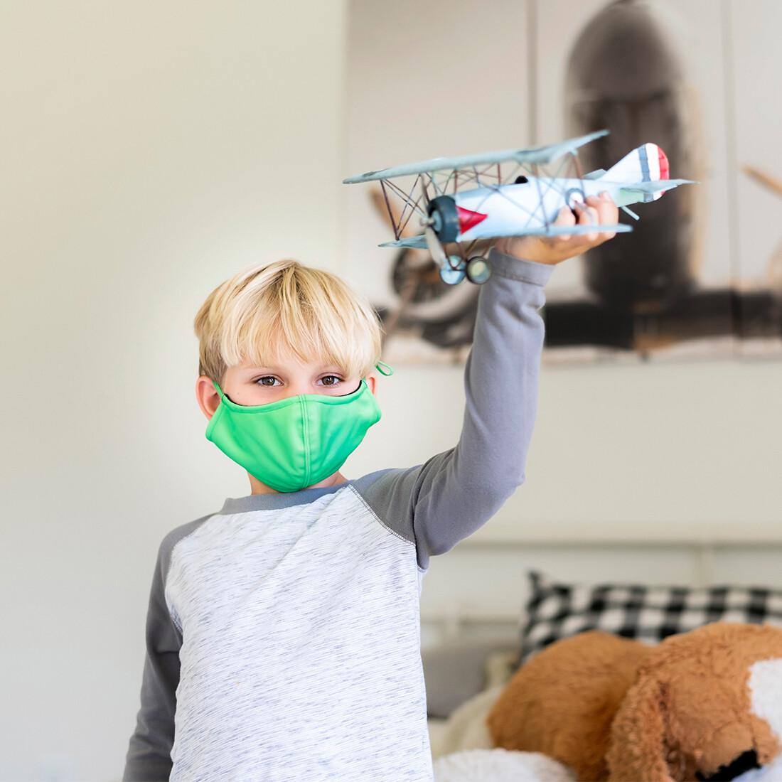Green Adjustable Kids' Face Mask