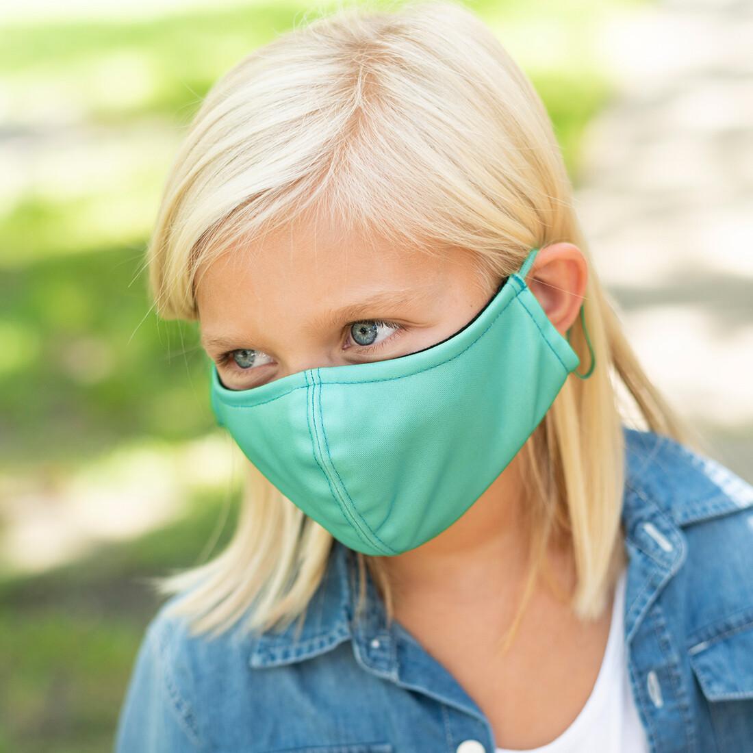 Mint Adjustable Kids' Face Mask
