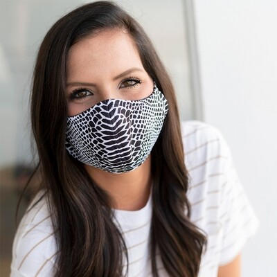 Snakeskin Adjustable Adult Face Mask
