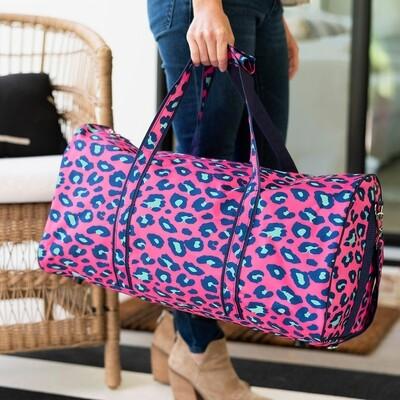 Hot Pink Leopard Duffel Bag