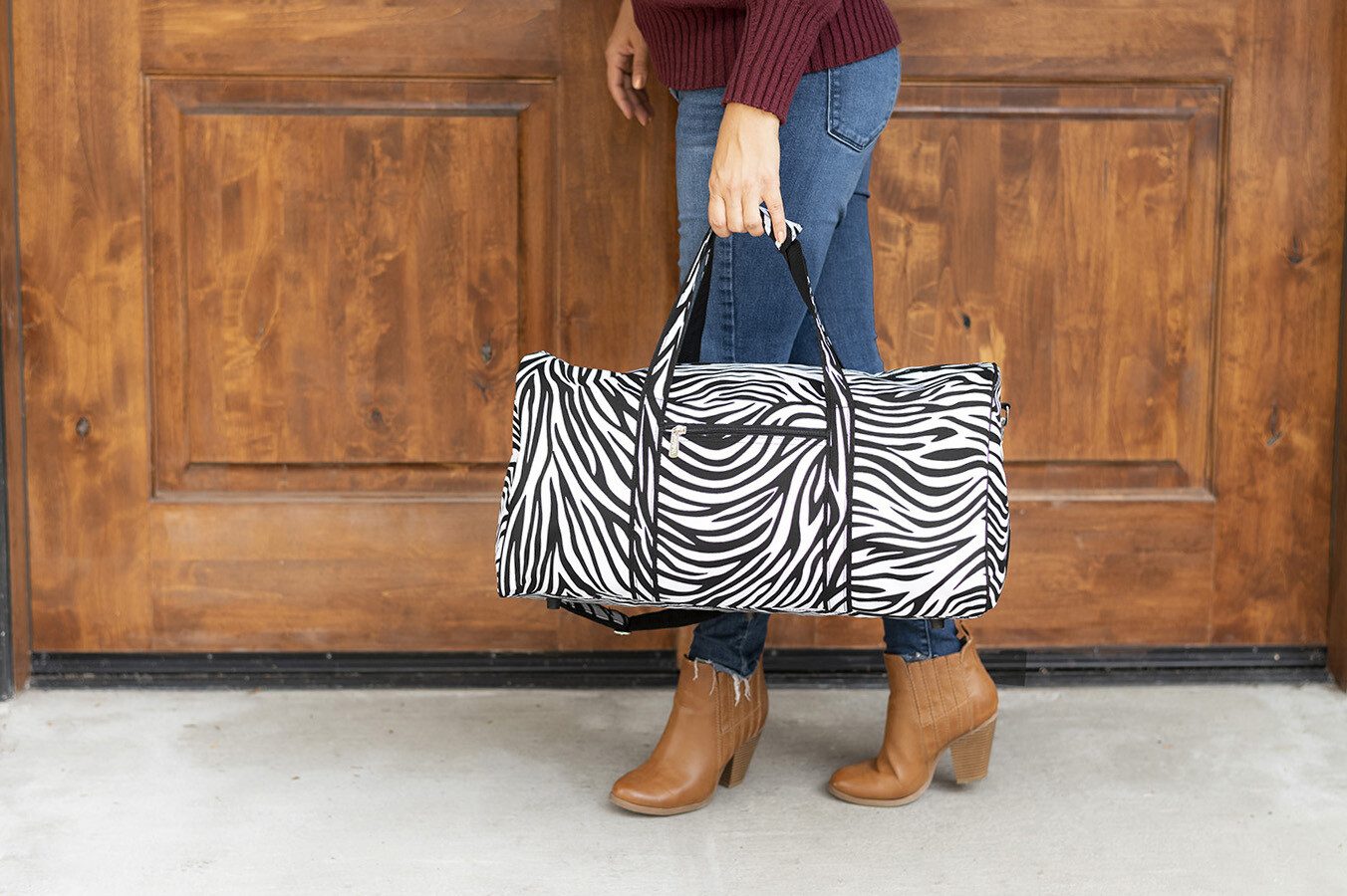 Zebra Duffel Bag