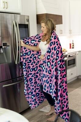 Hot Pink Leopard Blanket