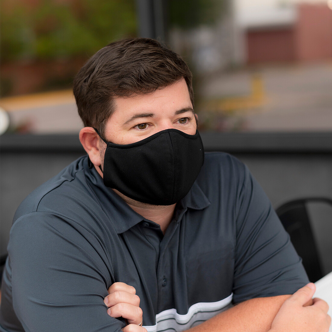 Black Adjustable Adult Face Mask