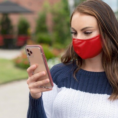 Red Adjustable Adult Face Mask