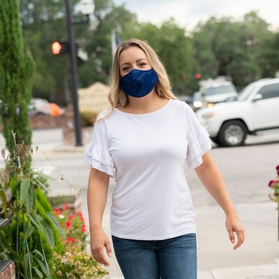 Navy Adjustable Adult Face Mask