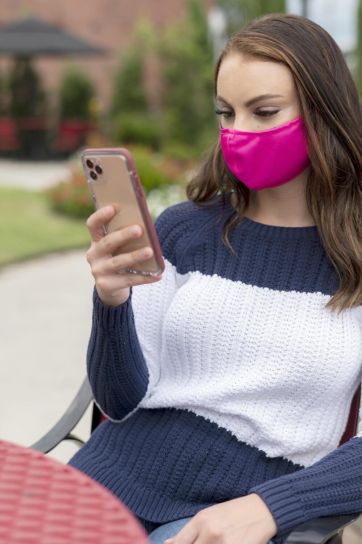 Hot Pink Adjustable Adult Face Mask