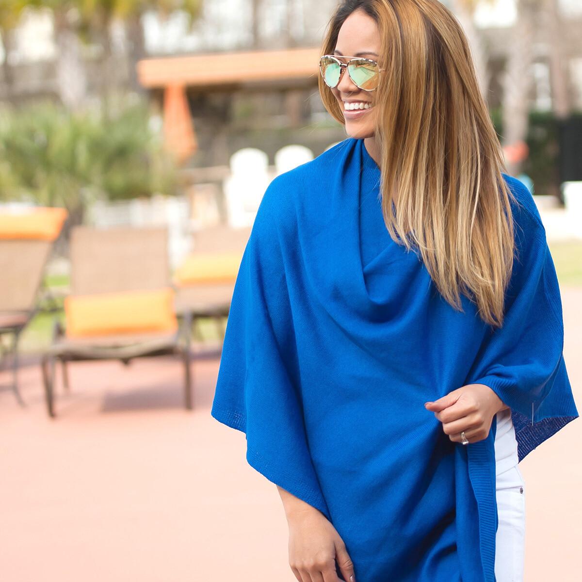 Royal Blue Chelsea Poncho