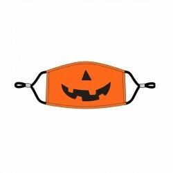 Jack-O-Lantern Adjustable Kids' Face Mask