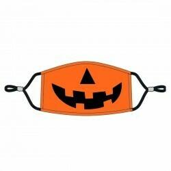 Jack-O-Lantern Adjustable Adult Face Mask