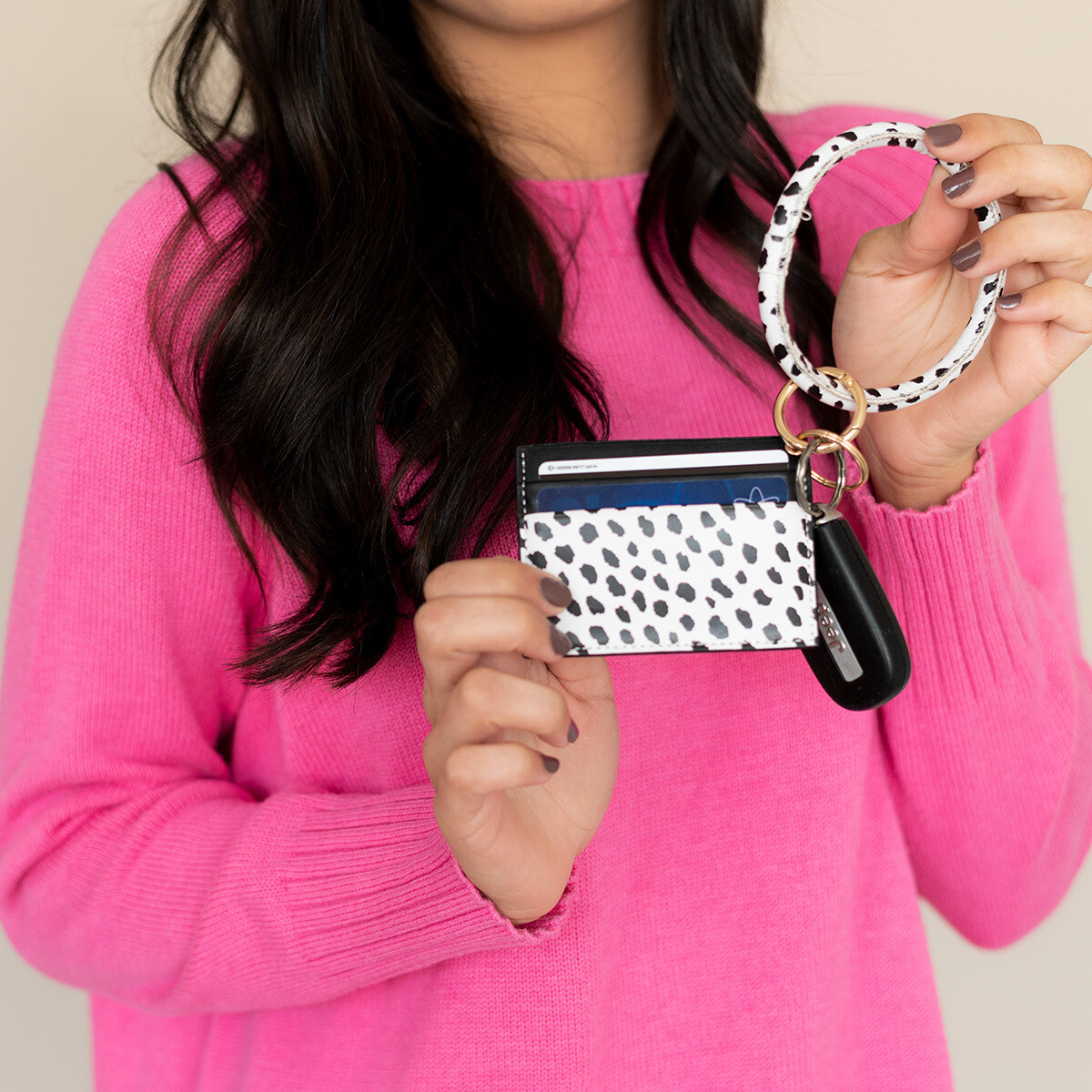 Spot On Card Holder Keychain Bracelet