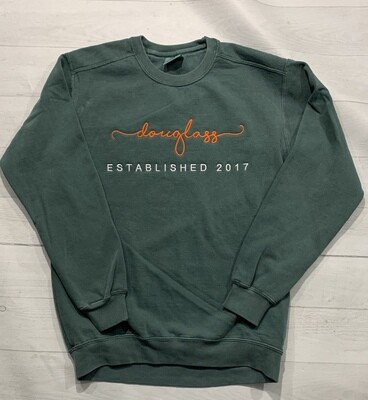 Douglass est 2017 Comfort Color Crewneck Sweatshirt (FDD)