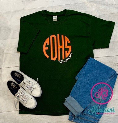FHDS Monogram T-shirt - Short OR Long Sleeve (FDD)